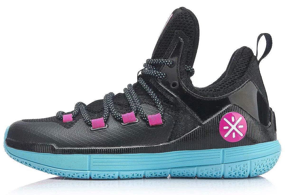 [LI-NING] THE 6TH Wade メンズ プロ バスケットボールシューズ 高い保護されています 耐摩耗性 滑り止め スニーカー ABAP017 B07RBSVP1N ブラックブルー Inner Length 25.0cm