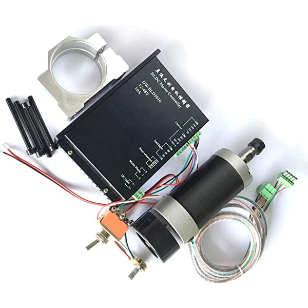 CNC 500W Air-Cooling Spindle Motor 24VDC 55MM Brushless ER11 600mN.m 12000r//min