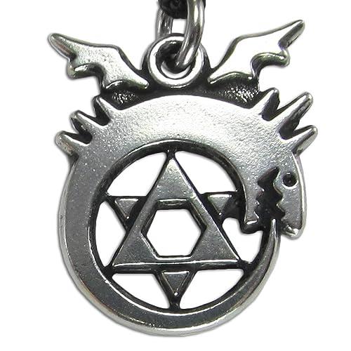 Peltre Ouroboros Alchemy símbolo Collar: Amazon.es: Joyería