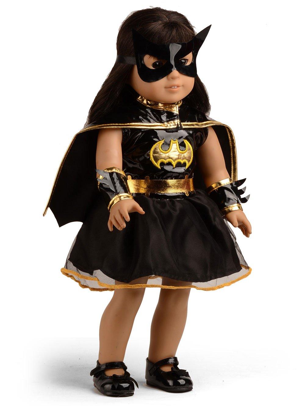 "Batgirl Dress Costume Set Fits 18/"" American Girl Doll Clothes"