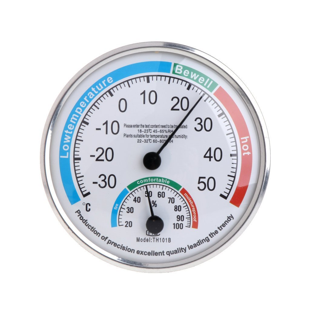 Sixsons Household Thermometer Hygrometer Analog Temperature/Humidity Meter Gauge (#062)