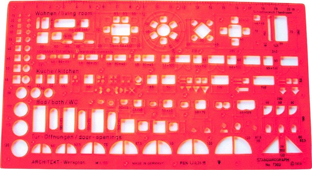 Standardgraph 7302 - Maschera per architetto, 1:100 OfficeCentre