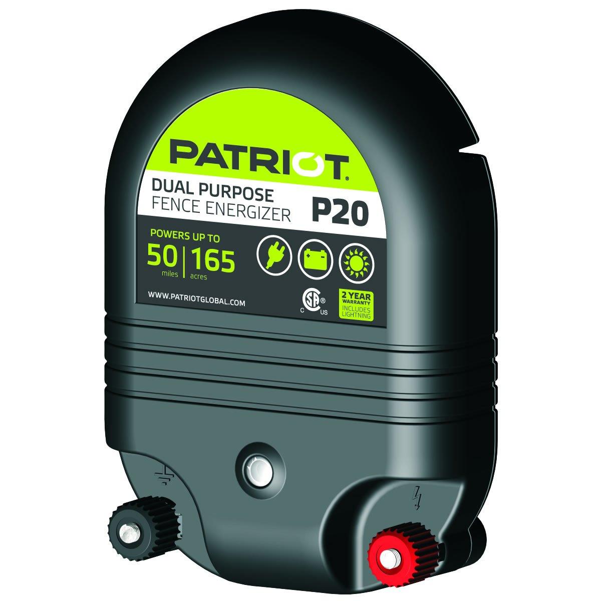 Patriot P20 Dual Purpose Electric Fence Energizer, 2.0 Joule