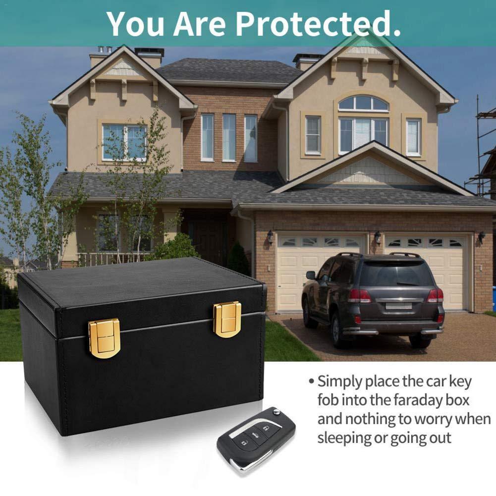 Storage Box Signal Blocker Box for Car Keys Fob Phones Cards, Faraday Box Call & RFID Signal Blocking Case Car Key Safe Box by themesmith
