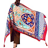 Womens Scarf Wraps Shawl Oversized Bohemian Soft Blanket 75''x 40''-Boho Throw Blanket-Picnic Blanket-Bed Runner-Tablecloth,Sheer Gift for Women Girls (TC02)