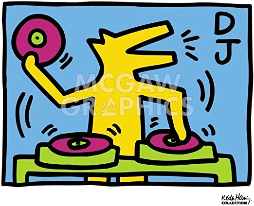 by Keith Haring Art Print See Hear Pop Poster 11x14 no evil 1989 Untitled