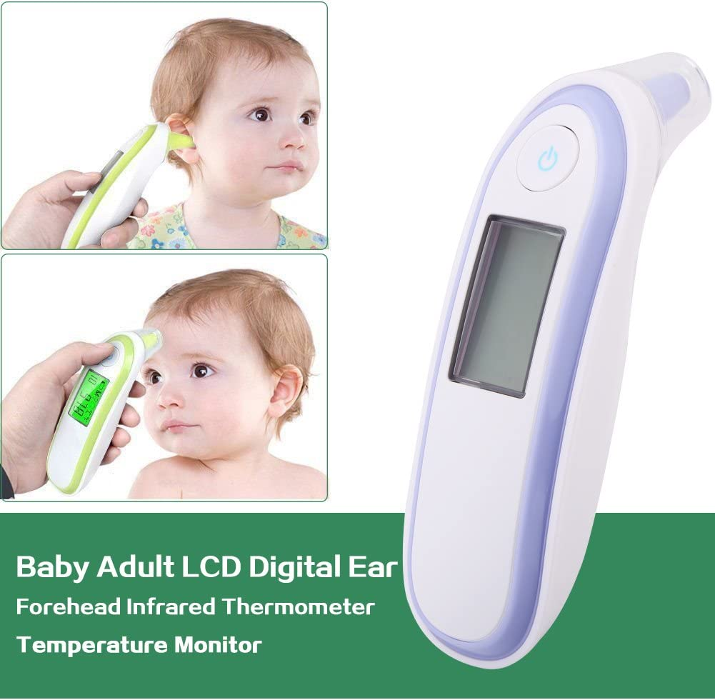 Baby Thermometer 3 Lights Modes Digital Infrared Thermometro for Kid and Adult Thermometer for Fever Ear and Forehead Green
