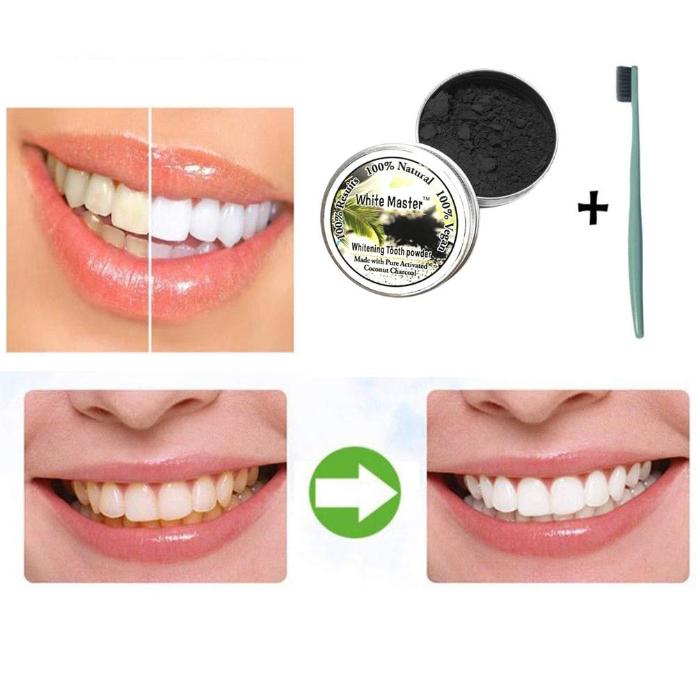 JPJ(TM) New❤Teeth Powder❤1pcs Hot Fashion Teeth Whitening Natural Organic Activated Charcoal Bamboo Powder with Toothbrush (Multicolor) by ❤JPJ(TM)❤️_Hot sale (Image #9)