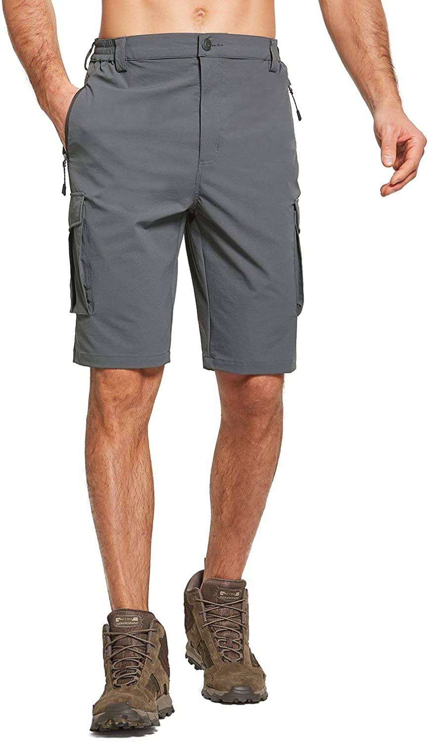 BALEAF Men's Stretch UPF 50+ Cargo Shorts Quick Dry Lightweight Breathable for Hiking, Camping, Travel: Clothing