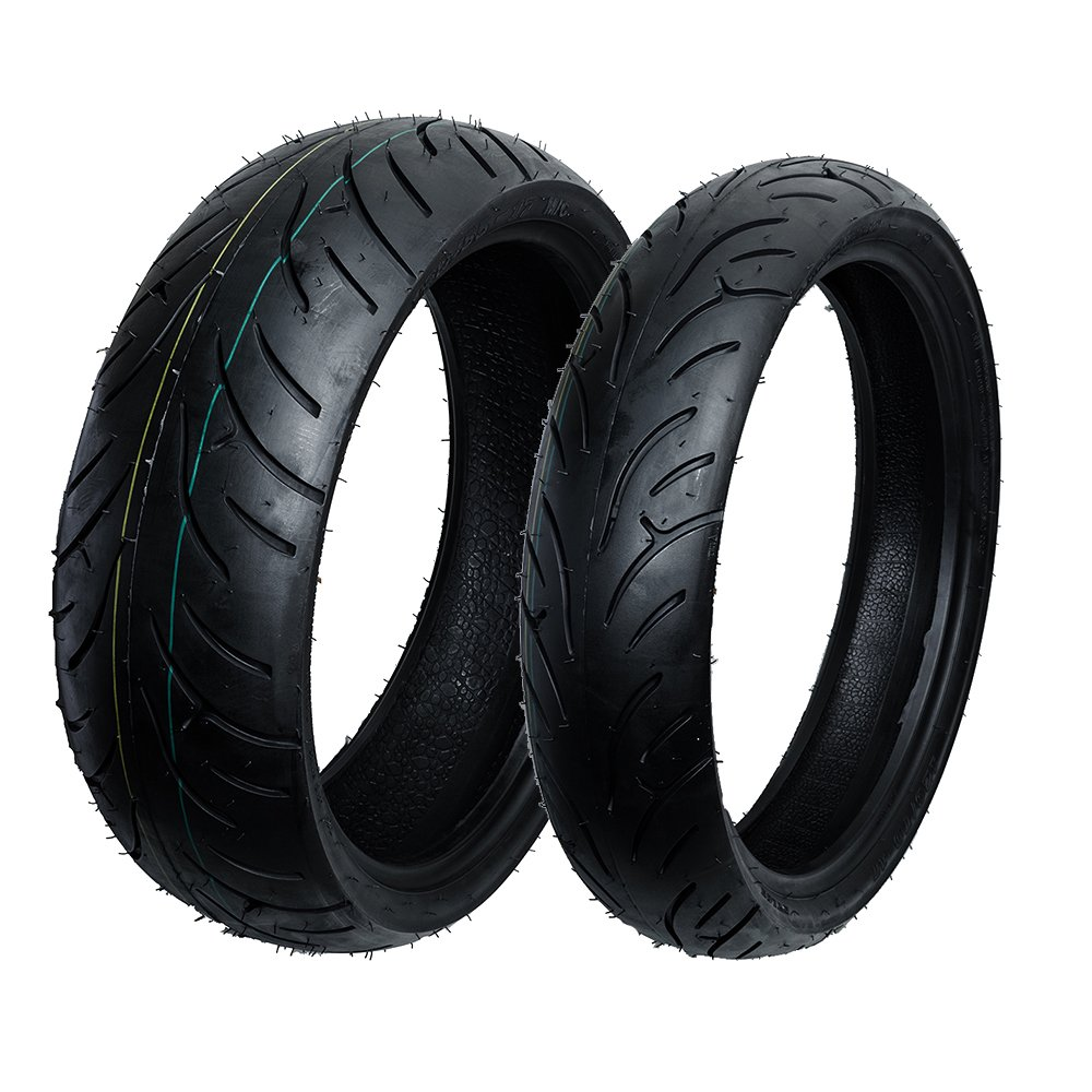 Max Motosports Front and Rear Moto Tire Set 120/70-17 & 180/55-17 MT301-302