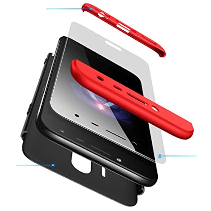 2ndSpring Galaxy S8 Funda, Funda Samsung Galaxy S8 360 Grados Integral para Ambas Caras + Cristal Templado, Luxury 3 in 1 PC Hard Skin Carcasa Case ...