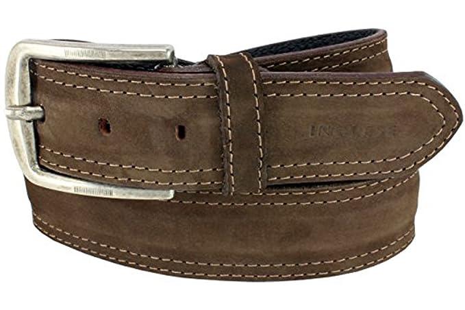XeeBest Homme ceinture large marron pour les jeans - cuir, daim, 1,50 2f1f4954173