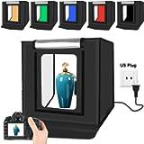 YOTTO Photo Light Box 16inch/ 40cm Portable Photography Table Top Photo Studio Foldable Shooting Tents Kit Adjustable…