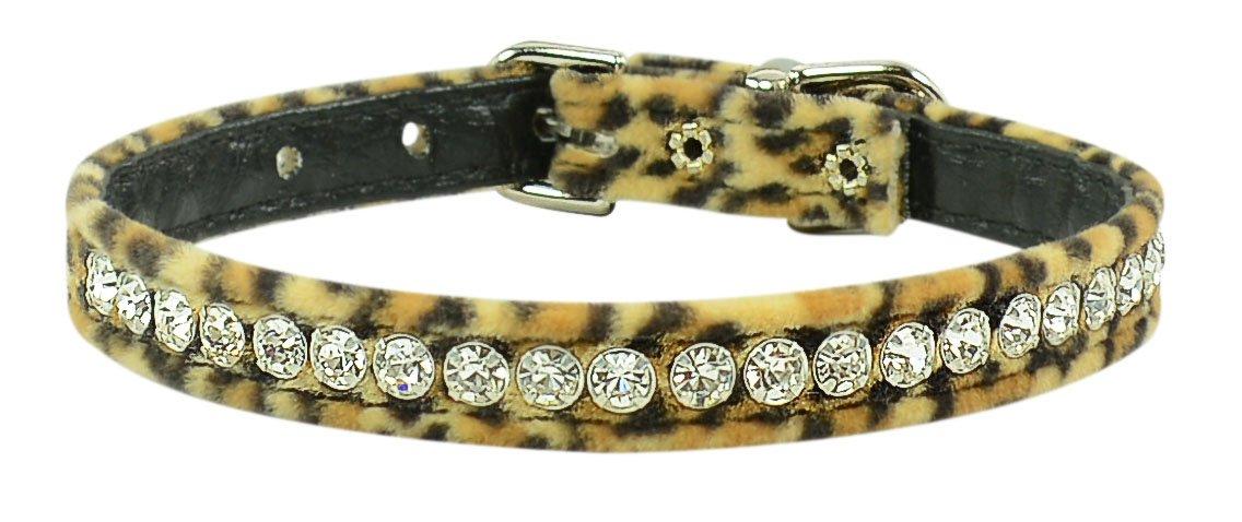 Evans Collars 3/8'' Jeweled Collar, Size 10, Animal Prints, Leopard