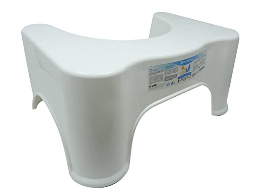 Squatting Toilet Stool 9 Inch By Derma Medico ® | Non Slip Bathroom Step Up