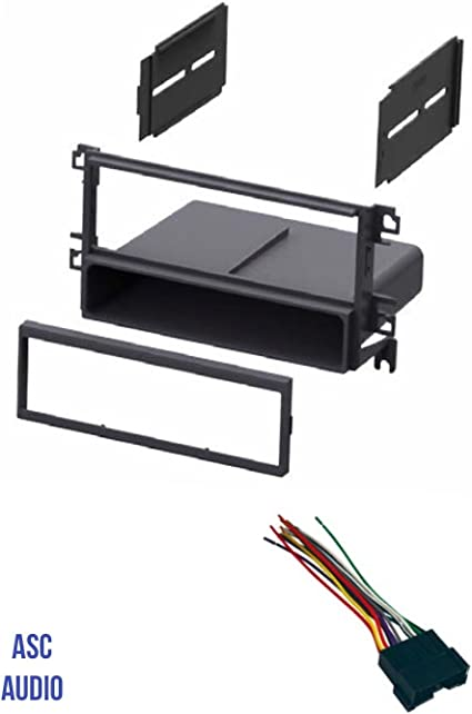 Amazon Com Asc Car Stereo Radio Dash Kit And Wire Harness For Installing A Single Din Radio For Some 2001 2006 Hyundai Elantra 2001 2006 Hyundai Santa Fe 2002 2005 Hyundai Sonata 2003 2008 Tiburon Car Electronics