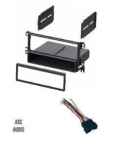 ASC Car Stereo Radio Dash Kit and Wire Harness for installing a Single Din Radio for some 2001 - 2006 Hyundai Elantra, 2001 - 2006 Hyundai Santa Fe, 2002 - 2005 Hyundai Sonata, 2003-2008 Tiburon