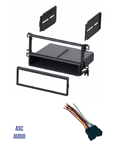 amazon com asc car stereo radio dash kit and wire harness for 2001 Ford F150 Wiring Harness asc car stereo radio dash kit and wire harness for installing a single din radio for some 2001 2006 hyundai elantra, 2001 2006 hyundai santa fe,