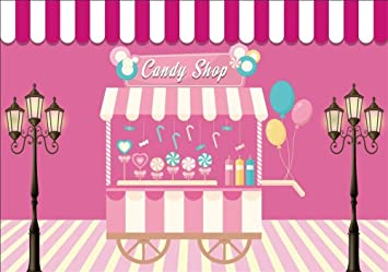 Amazoncom Aofoto 9x6ft Comic Candy Shop Backdrop Kids Children