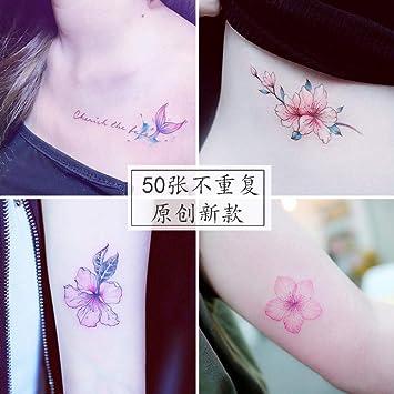 Etiquetas engomadas del tatuaje impermeable femenino duradero rojo ...