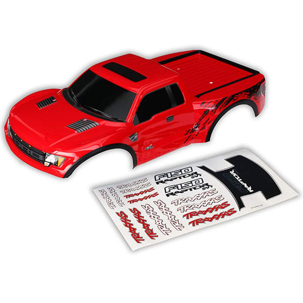 Traxxas 1/10 2WD Ford Raptor Body, Red with Decals