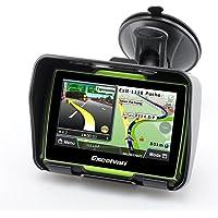 Excelvan 8GB Fino a 32 GB Navigatore GPS Bici Moto Impermeabile IPX7 4.3 Inch Touch Schermo Bluetooth vince CE6.0(Verde)