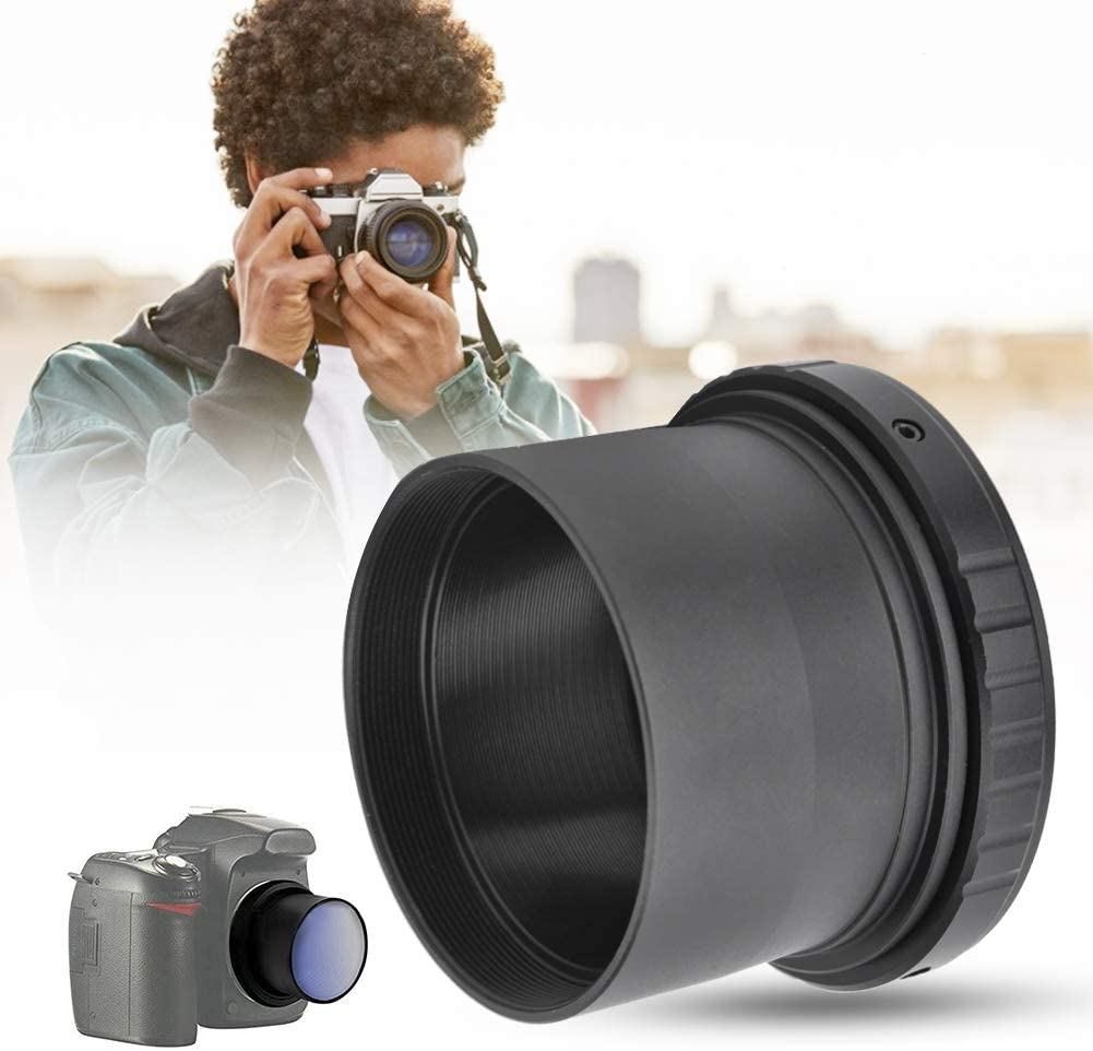 Bewinner Camera Lens Adapters,T2-PK Metal Adapter Ring for 2inch Telescope to for PK Mount Camera,Lightweight and Portable,Useful Accessory for Photography Lovers
