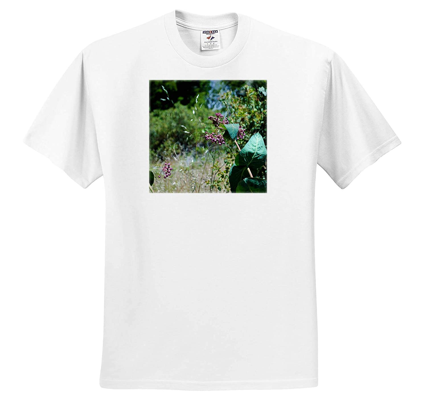3dRose Jos Fauxtographee T-Shirts A Berry Like Flower in Yosemite with deep Green Leaves Flower in Yosemite