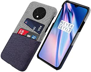 Oneplus 7T Fabric Wallet Cover Case - Blue