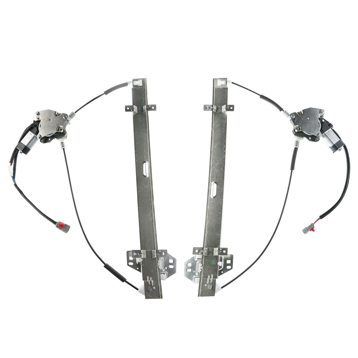 Set of 2 Front Driver and Passenger Side Window Regulator with Motor for Honda Odyssey 1999-2002 by YHTAUTO