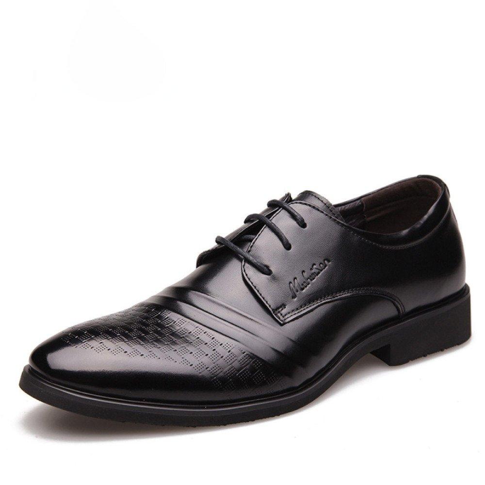 LEDLFIE Echtes Leder-Schuhe der Männer Spitze Kleid Geschäft Hochzeits-Schuhe
