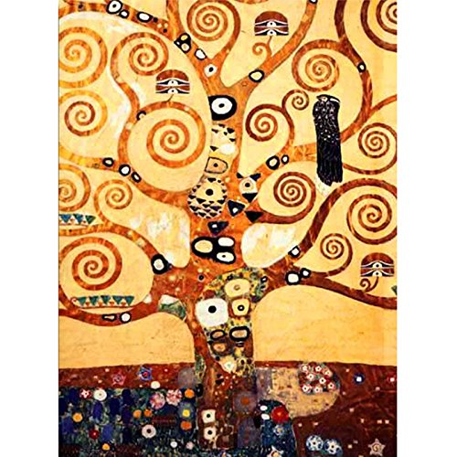 34X44cm Full Diamond Embroidery Tree of Life Mosaic Pictures Diamond Painting Cross-Stitch Klimt Painting Needlework Artistic -