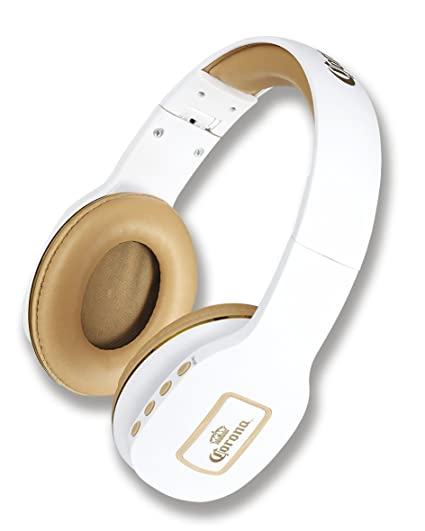 Corona 2 in 1 Bluetooth Wireless Headphones White/Gold (00702)
