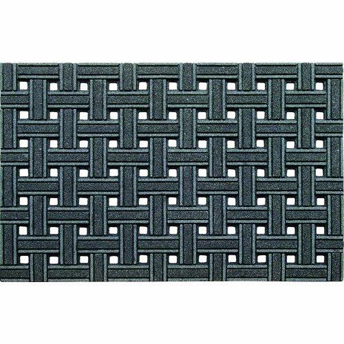 CleanScrape Deluxe Door Mat, 2-Feet by 3-Feet, Weave Gray