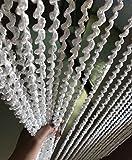 creative room dividers Eyotool 39''x78'' Door String Spiral Curtain Rare Flat Thread Fringe No Convolved Window Panel Room Divider Fashion & Creative Decorative Strip Tassel (White)