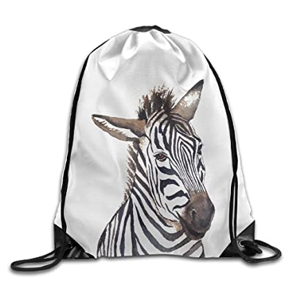 29ce8a9c92fa Allan J Beasley Men   Women Sport Gym Sack Drawstring Backpack Bag - (Zebra  Head