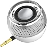 Mini Portable Speaker, 3W Mobile Phone Speaker with 250mAhLithium Battery Line-in Speaker with Clear Bass 3.5mm AUX Audio Interface, Plug and Play for iPhone, iPad, iPod, Tablet, Computer (White)