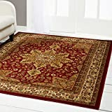 """Traditional Area Rug, Home Dynamix Royalty 3'7"""" x 5'2"""" Red"""