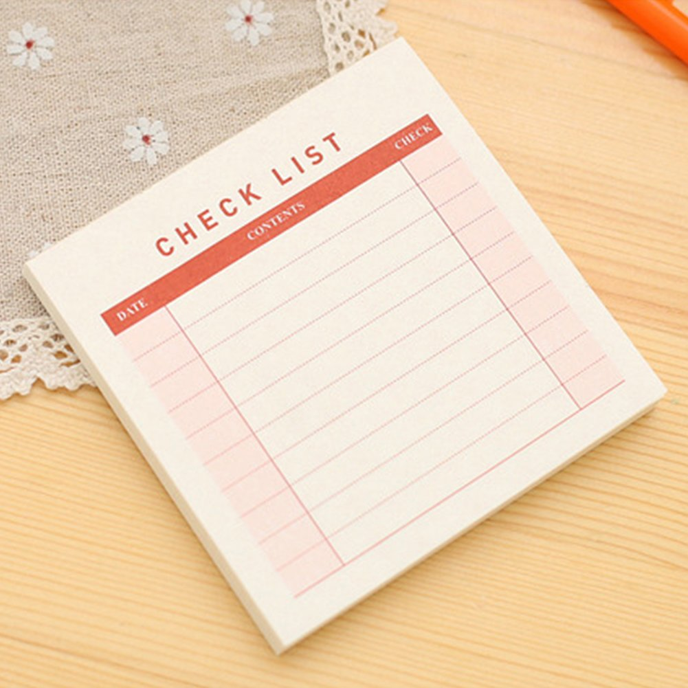 Scratchpad Weekly Plan Memo Stationary Pad Check List Message Note Office Month Schedule(S)