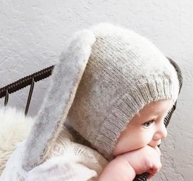 63a3498a6c7 Frbelle® Cagoule Coton Bébé Enfant Fille Garçon Chapeau Hiver Crochet  Déguisement Lapin Photographie 6 mois 12 mois 18 mois 2 ans 3 ans 4 ans 5  ans  ...
