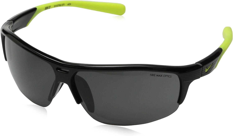 Nike Grey Lens Run X2 Sunglasses, Black Volt
