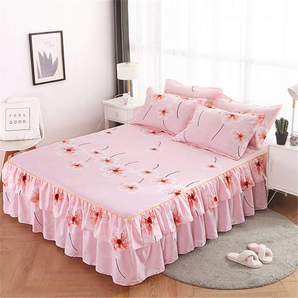 FENGDONG Bed Skirt bedcover Fitted aheet Cover Bedroom hometextile Skirt by FENGDONG