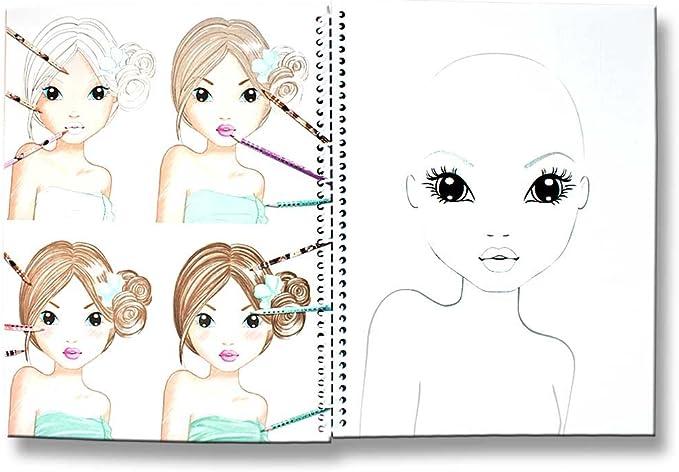 Topmodel Malbuch Create Your Topmodel Make Up Mit Sticker Und Malvorlagen Gesichter Rosa Gelb Amazon De Spielzeug