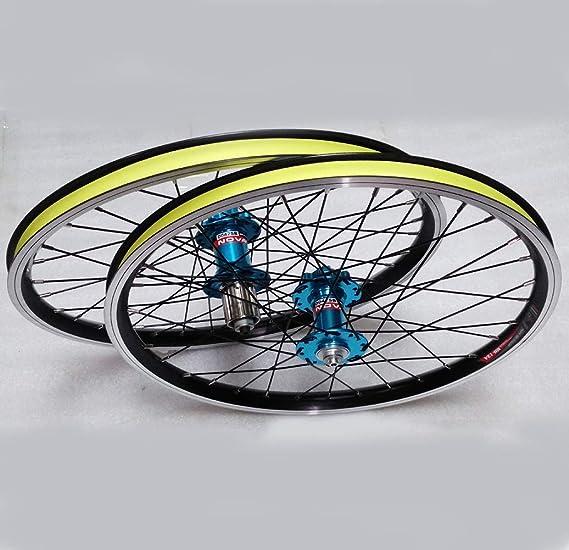 LYzpf Fahrrad Laufrad Mountainbike Rad Vorne Hinten Set Felgen Disc 20 Inch V Bremse Zubeh/ör Aus Aluminum Alloy