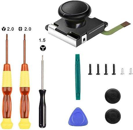 Thlevel 1PCS Joystick Analógico 3D para Nintendo Switch Joy-con, Utiliza para Reemplazo del Joystick Izquierdo/Derecho, con Destornillador Herramientas de Reparación y 2 Tapas para Pulgar: Amazon.es: Electrónica