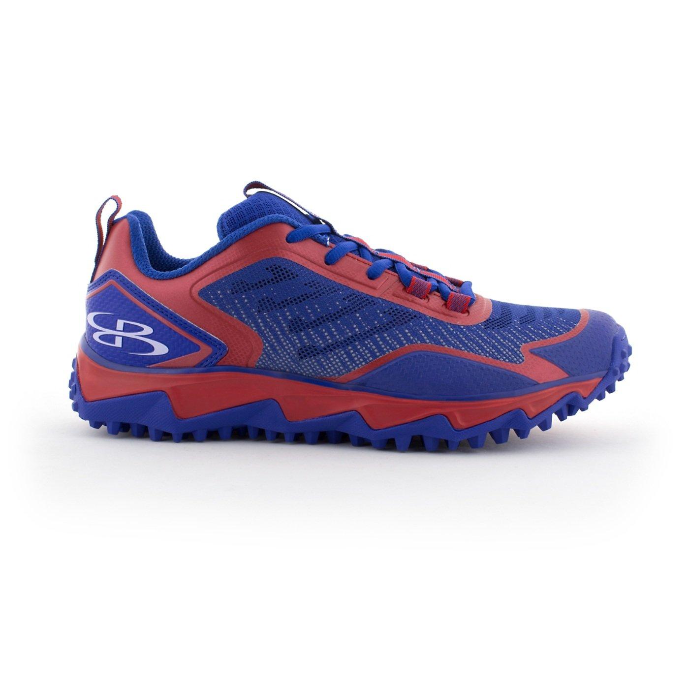 BoombahメンズBerzerk Turf Shoes – 13色オプション – 複数のサイズ B076B1N7PB 9.5|ロイヤル/レッド ロイヤル/レッド 9.5