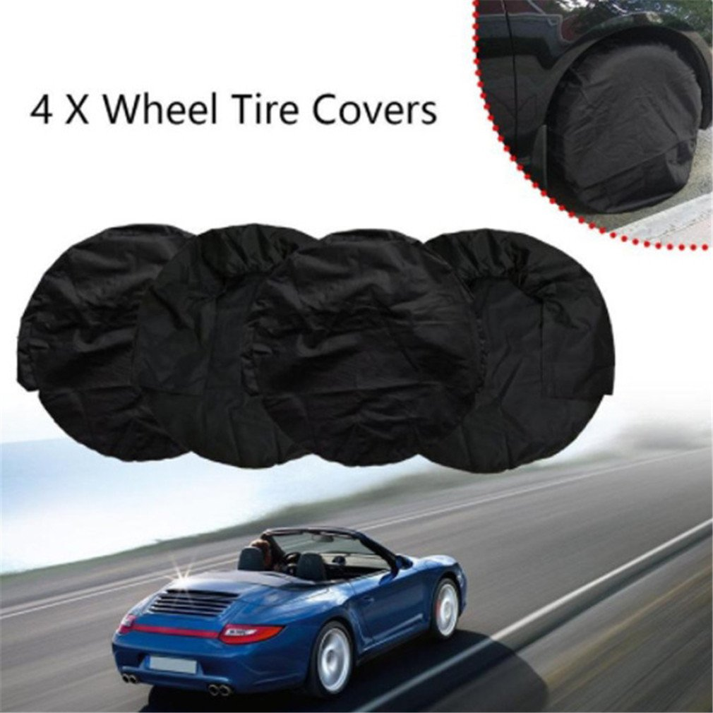 Indeedbuy 4 Pcs Tire Covers for RV Wheel All Season Set of for Aluminum Film Tire Sun Protectors,Fits 27 to 29 Tire Diameters,Weatherproof Tire Protectors
