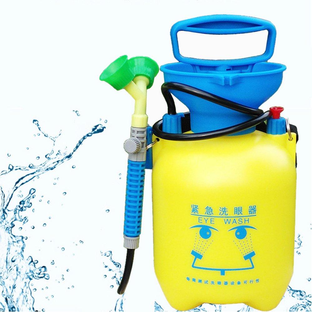 NEWTRY 3L(0.8 Gallon) Mobile Emergency Eyewash Station Portable Eye Washer