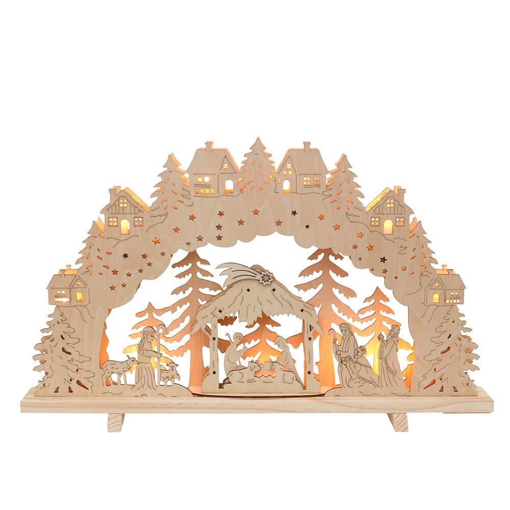 7-flammiger Schwibbogen, Motiv  Dresden, L L L B H ca. 58 x 4 x 38 cm. B076T4BLYS Zierschmuck 58adc6