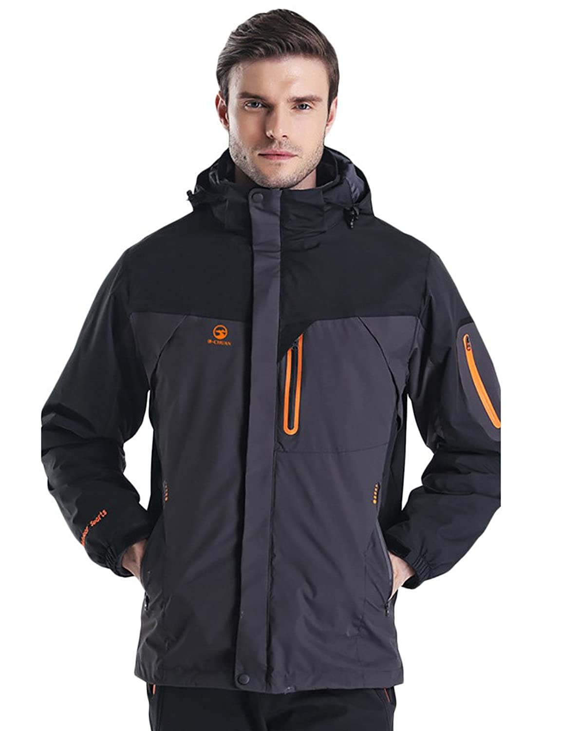 JIMMY DESIGN Herren 3 in 1 Jacke Winddicht Wasserdicht
